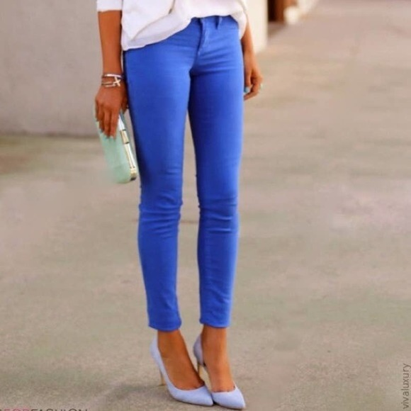 J. Crew Cobalt Blue Matchstick Jeans